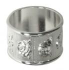 Кольцо для салфеток 42 мм серебро [DS-С15]